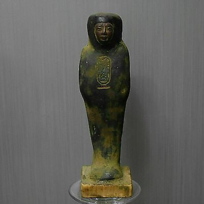 Rare ancient egyptian antique stone statue ushabti 1550-332bc