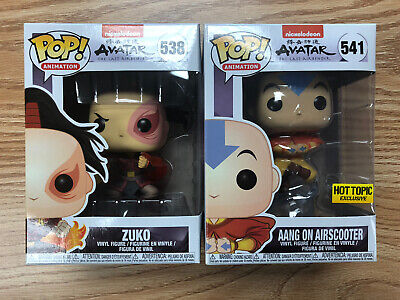 Funko Pop Animation Avatar Aang On Airscooter 541 Hot Topic Exclusive Zuko Funko