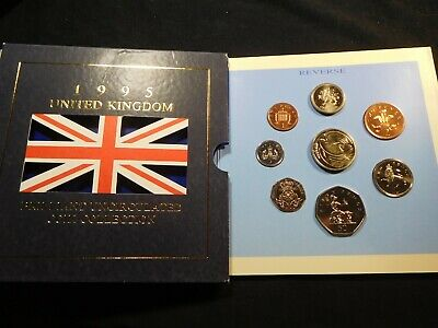 N45 Great Britain 1995 8 Coin Brilliant UNC Coin Collection