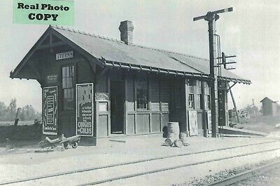 Erie Railroad Depot (train station) at Athens, Fulton Co., IN Indiana