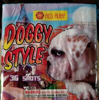 Doggy style Collectible firework Label X4