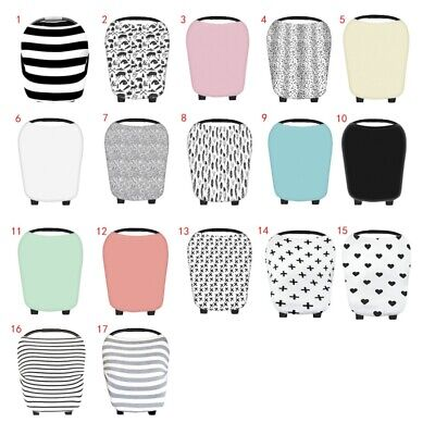 Multi-Use Car Seat Canopy Nursing Cover + Infant Baby Carrying Case Stretchy