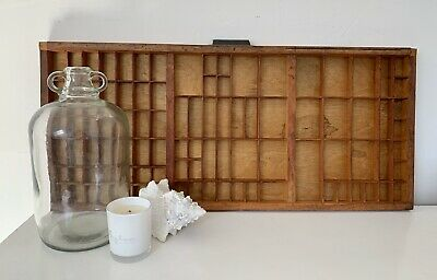 Vintage Letterpress Wooden Printers Tray Cleaned And Refurbished