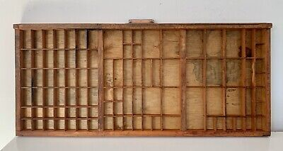 Vintage Letterpress Wooden Printers Tray Refurbished And In Good Condition