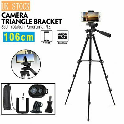 Tripod Stand Mount Holder For Camera Camcorder Samsung Phone iPhone Bluetooth UK