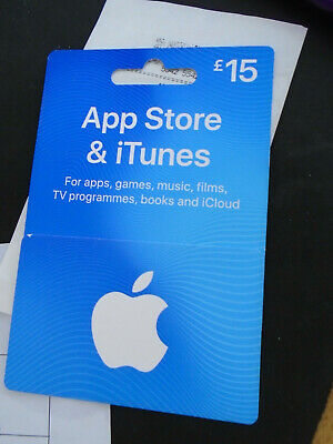 NEW ITUNES GIFT CARD £15 CAN POST OR SCRATCH 4 apps games movies tv books music