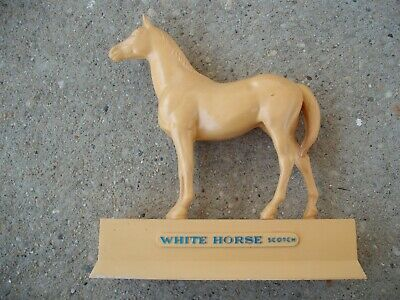 Vintage White Horse Scotch Whiskey All Tan Horse Bar Store Display Man Cave