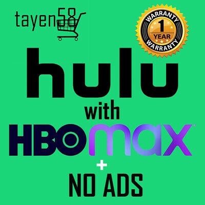 Hulu premium HBO Max + No Ads account -1 year WARRANTY- Direct Access to HBO MAX