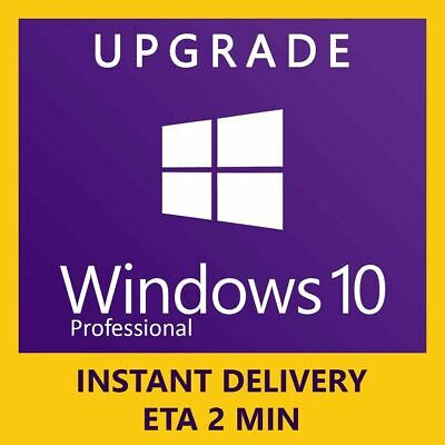 Windows 10 Pro 32/ 64bit Retail License Key -Upgrade To Pro - Instant Delivery