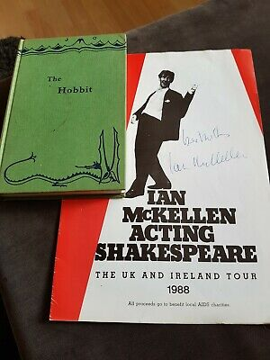 The Hobbit  1965 fifteenth Impression   +Signed IAN McKELLEN  alias Gandalf 1988