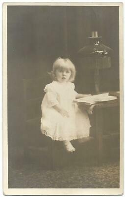 Pretty Young Girl With Beautiful Blonde Hair RPPC Real Postcard c.1910