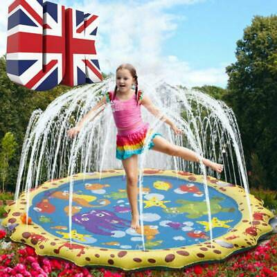 1M Outdoor Lawn Beach Inflatable Water Spray Kids Sprinkler Play Pad Mat Toy