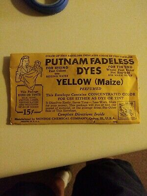 Putnam Fadeless Dyes Yellow (Maize) Package