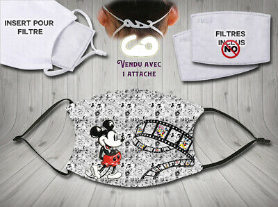 masque de protection adulte waterproof anti postillons - disney mickey mouse 3