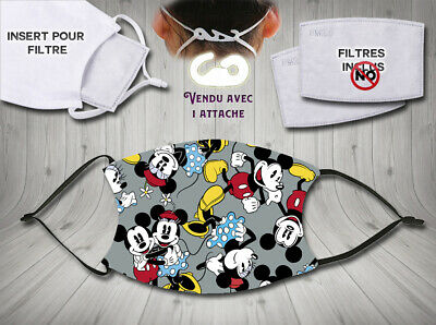 masque de protection adulte waterproof anti postillons - disney mickey mouse 7