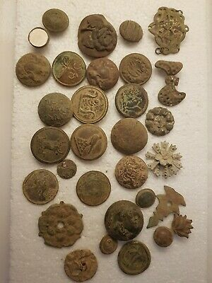 Old metal buttons metal detecting finds