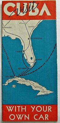 1950's Travel Brochure CUBA WITH YOUR CAR