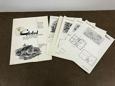 Vintage 50s MID CENTURY MODERN HOME PLANS Lot ranch house Blueprint tract ads