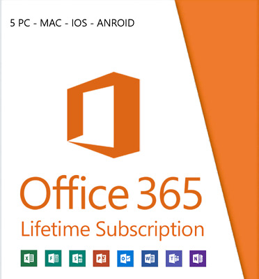 Ms Office 2019 Lifetime Account | 5 devices - 5TB OneDrive cloud storage