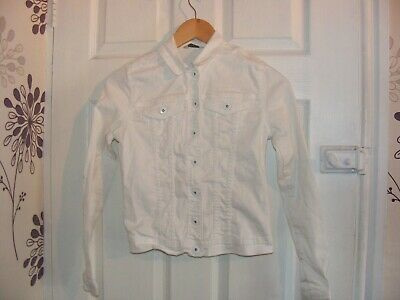 girls white denim jacket,age 12- 13 yrs,lovely for summer holidays