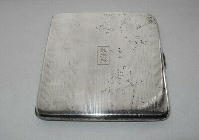 ESPECIALLY Elegant STERLING SILVER Cigarette Card CASE Monogram KSS has WEAR