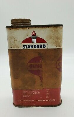 Vintage 1950'S STANDARD OIL INSECT SPRAY WITH DDT 1 Pint Metal Can Oil Gas Sign