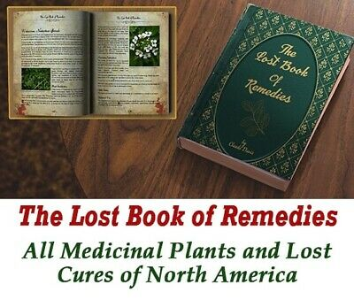 The Lost Book of Herbal Remedies paperback with color pictures Like New