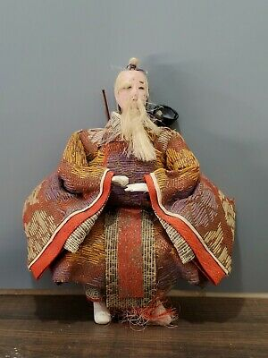 ANTIQUE JAPANESE SAMURAI ?  DOLL 6.75'' by 7''