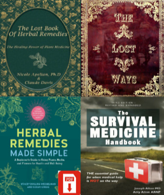 The Lost Ways The Lost Book of Remedies Herbal Medicine + 2 FREE P.D.F🔥✅