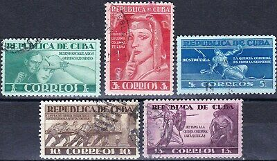 LARGEST CARIBBEAN COUNTRY Sc 375 - 379 - COMPLETE USED SET - LOOK!