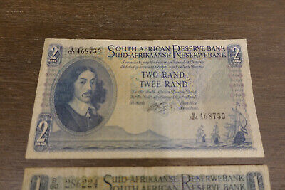 Old banknotes South Africa and Russia