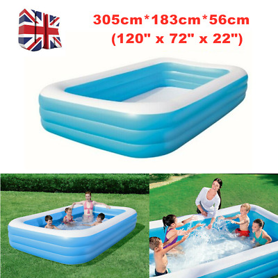Large Family Swimming Pool Garden Outdoor Summer Inflatable Fun Paddling Pool UK