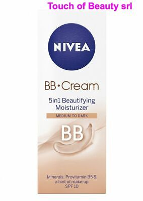Nivea BB Cream 5 in 1 Beautifying Moisturizer Cream Medium to Dark 50 ml