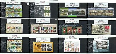 GB POSTALLY USED MINISHEETS 1979 to date. Choice of items
