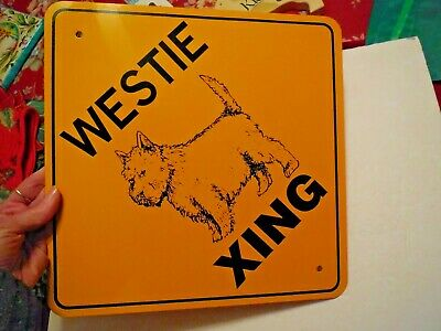 West Highland Terrier-WESTIE, Tin School Sign,Vintage Collectible, Jungle Xings