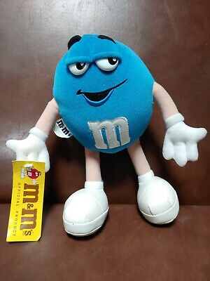 "M&M's Brand Blue Peanut Poseable Stuffed Plush 10"" 1997"