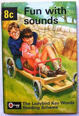 Vintage Ladybird Book - 8c Fun with sounds - Key Words Series - 15p - Very Good