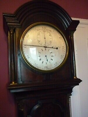 Mahogany  Regulator Longcase Clock Corken Oswestry In Good Working Order