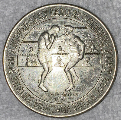 1973 Shelby MT Montana  50th Anniversary of Dempsey Gibbons Boxing Fight Medal