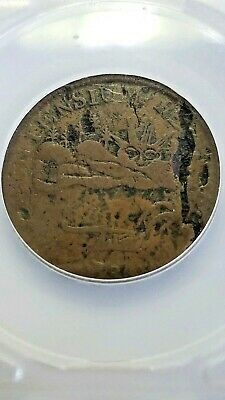 1786 Vermontensium Large Cent Copper U.S. Colonial Coin Scarce This Nice