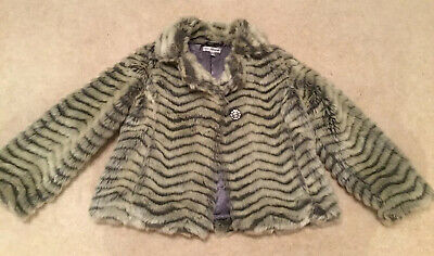 Autograph Girls Furry Coat (Age 7-8yrs)