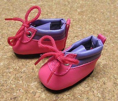 Doll Shoes, 54mm PINK/PURPLE Hiking Boots fit Wellie Wishers, 91 Toni, others