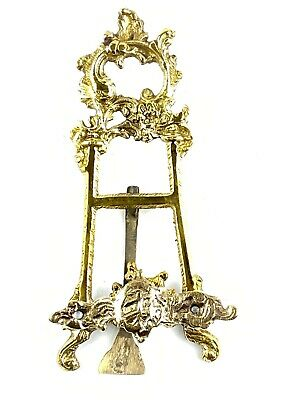 Vintage Solid Brass Ornate Book/Recipe/Picture/Art Holder Stand Easel 6 ""