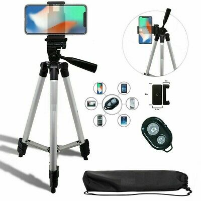 """TRIPOD + MOUNT +  REMOTE for IPHONE 7 8 X 10 XS 11 SAMSUNG NOTE GALAXY 50"""""""