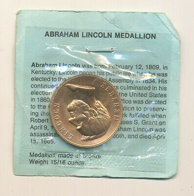 Us Mint Abraham Lincoln Bronze Medal