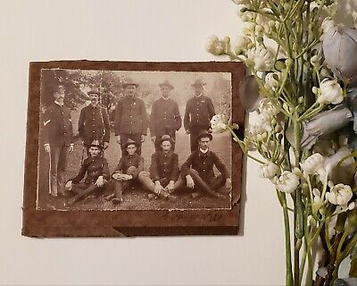 Group of Spanish American War Soldiers Cabinet Card. Very Interesting/Original!!