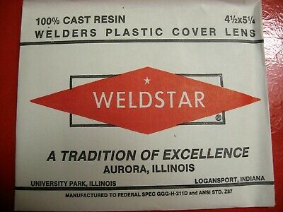 "20 pc.Weldstar & Prostar welders plastic cover plates clear 4 1/2"" x 5 1/4"""
