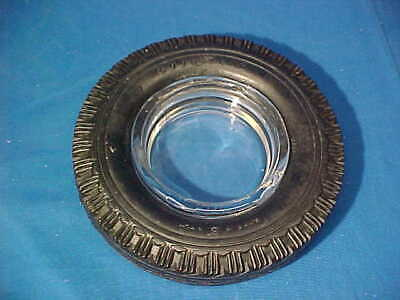 Vintage GOODYEAR TIRE Figural RUBBER Advertising ASHTRAY w Insert