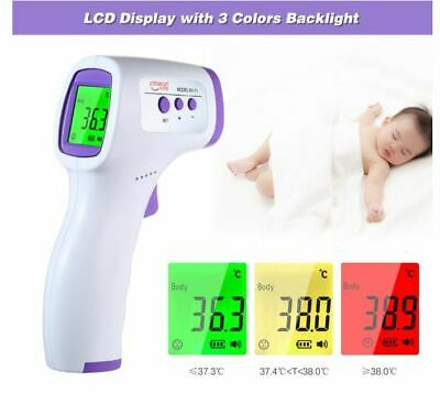 IR Infrared Digital Forehead Fever Thermometer Non-Contact Baby / Adult Body Lcd