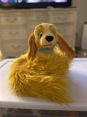 Disney Parks Lady Dog Long Tail Stole Boa Scarf Plush Doll  (and the Tramp)